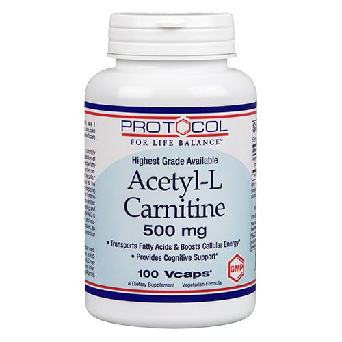 Acetyl-L-Carnitine 500 mg by Protocol For Life Balance