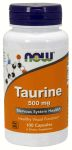 Taurine 500mg 100 Capsules by Now Foods