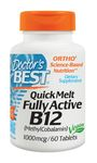 Quick Melt Fully Active B12 1000 mcg 60 Tablets by Doctor's Best