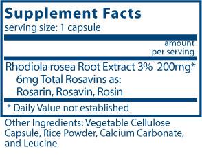 Rhodiola rosea 3%