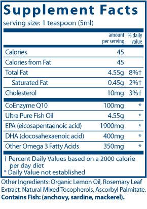 Ultra Pure Fish Oil 2600  CoQ10 100 mg