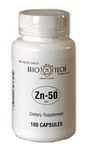 Zn-50 Zinc Gluconate 50 mg 100 Capsules by Bio-Tech
